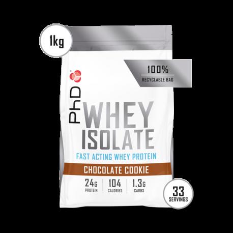 PhD Whey Isolate Ciocolată și Biscuiți 1kg