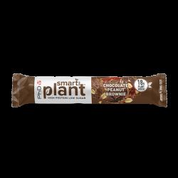 Baton proteic vegetal PhD Smart Bar Plant Chocolate Peanut Brownie 64g
