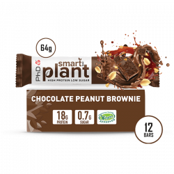 Cutie 12 Batoane PhD Smart Bar Plant Chocolate Peanut Brownie 64g