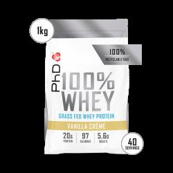 Pudră Proteică PhD 100% WHEY Vanilie 1kg