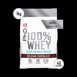 Pudră Proteică PhD 100% WHEY Ciocolată Belgiană 1kg