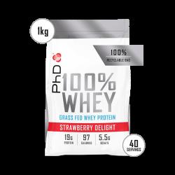 Pudra proteica PhD 100% WHEY Capsuni 1kg