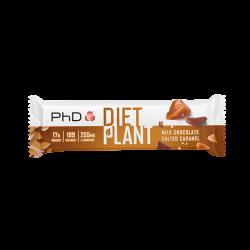 Baton proteic vegetal PhD Diet Plant Bar Milk Chocolate Salted Caramel 55g