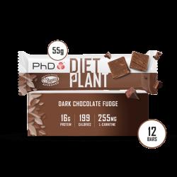 Cutie 12 Batoane PhD Diet Plant Bar Dark Chocolate Fudge 55g