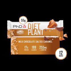 Cutie 12 Batoane PhD Diet Plant Bar Chocolate Salted Caramel 55g