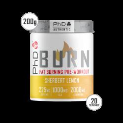 Pre-Workout Termogenic PhD Burn Aromă Lămâie 200g