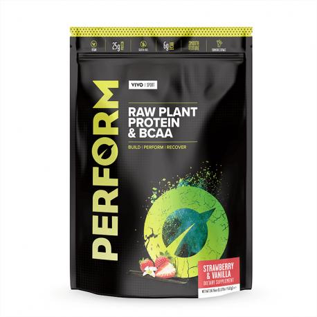 Vivo Perform Proteine Vegetale & BCAA Aromă de Căpșuni și Vanilie 504g