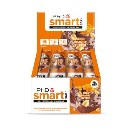 Cutie 12 Batoane PhD Smart Bar Ciocolată și Arahide 64g